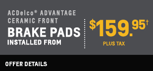 Break pads installed from $159.95