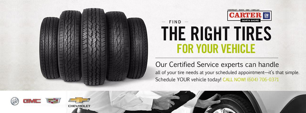 Tires North Vancouver >> Types Of Tires Carter Gm Northshore