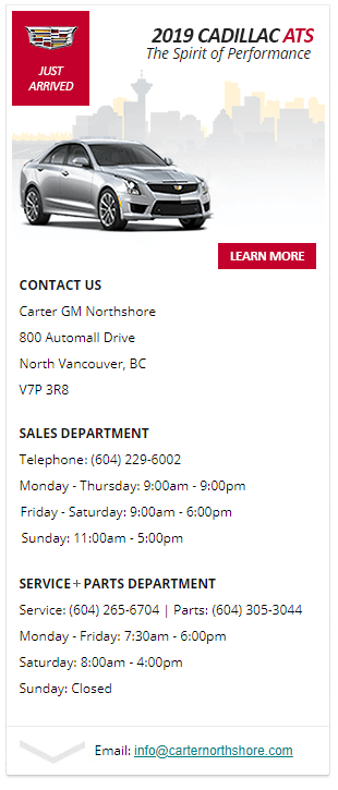 cadillac ats sedan northshore