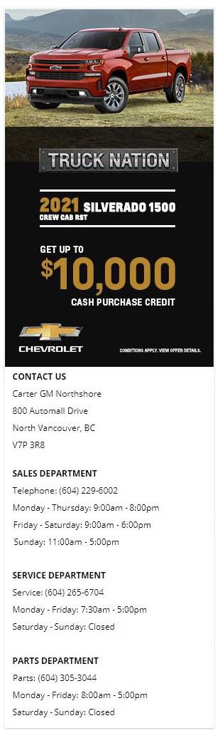 2021 Chevrolet Silverado 1500 Truck Carter GM Northshore