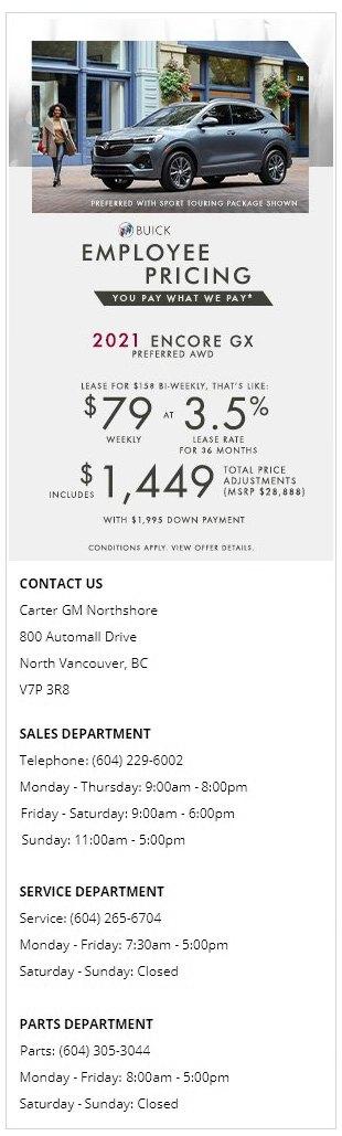2021-Buick-Encore-GX-Carter-GM-Northshore-Employee-Pricing