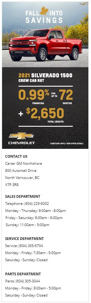 2021 Chevrolet Silverado 1500 Truck Best Prices in Burnaby and North Vancouver BC 01